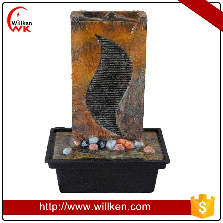 Small Size Handmade Resin Slate Tabletop Fountain for Sale