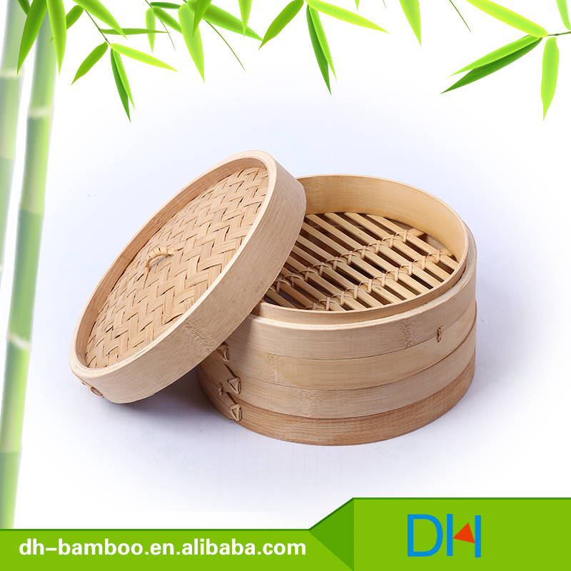 chinese commercial mini dim sum bamboo steamer basket set wholesale
