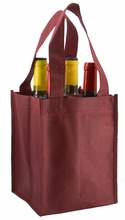 Muti Color Christmas Jute Wine Tote Bag Personalized Non Woven Reusable Gift Bag
