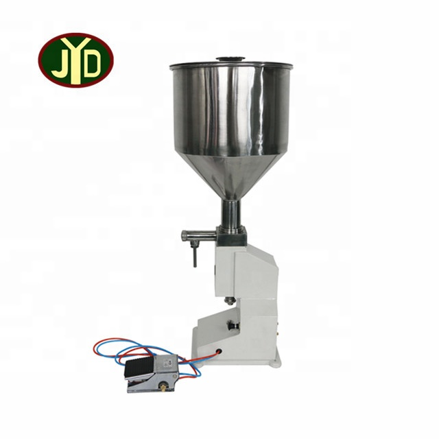 <strong>A02</strong> 5-50ml High Accuracy Small BottleLiquid Cream Paste Pneumatic Filler Small Juice Sachet Filling Machine