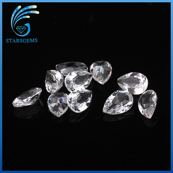 best competitive price 3*5mm pear natural loose topaz