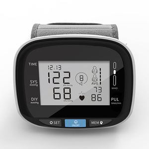 Wrist smart blood pressure / heart rate monitor home and hospital wrist digital free blood pressure monitor