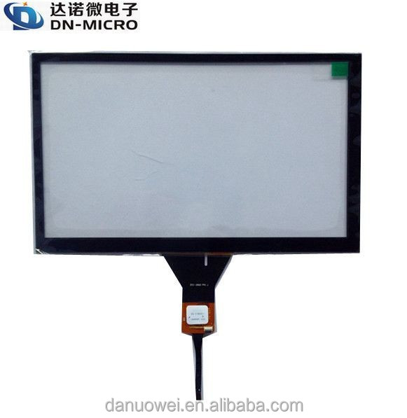 Transparent IIC interface 7 inch Capacitive touch screen monitor with 800*480 resolution
