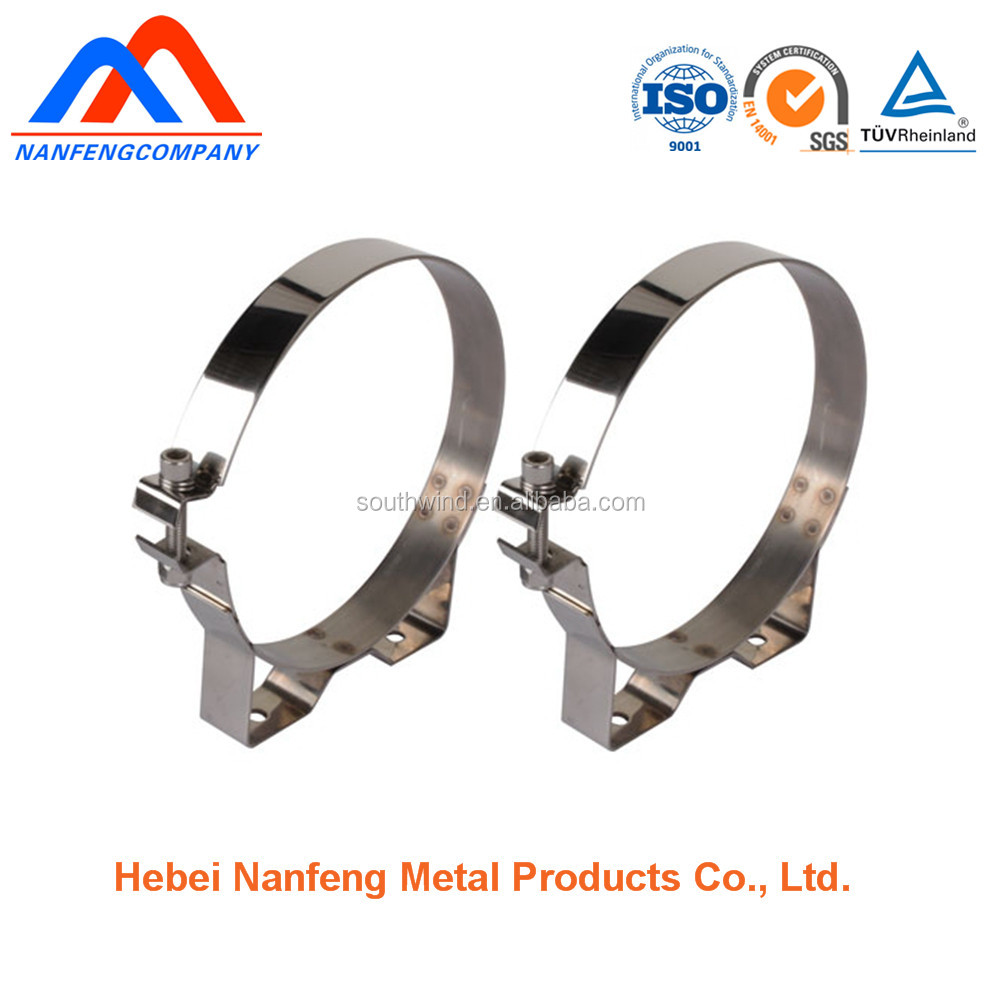 Custom fabrication stainless steel hanging pipe clamp pipe clamp types