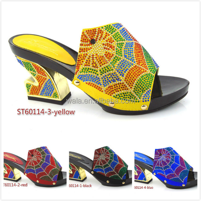 Italian sexy ladies evening ST60114 square heel shoes sandals for women