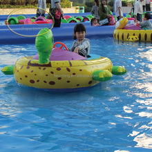 Hot sell cartoon inflatable electric bumper boat, small electric fishing boats