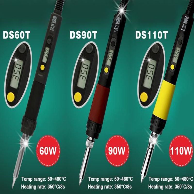SHENZHEN CXG Digital Thermostatic Electric Soldering Iron 50~480degrees Celsius Temp Adjustable