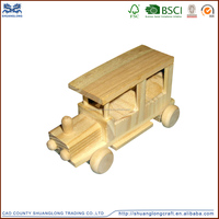 Wooden toy educational toys car for kids , antique wooden model car