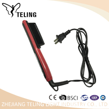 Electronic power supply tourmaline hair straightener comb suitable for 110-220V