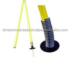 Football Slalom Pole with Spring & Stand Collapsible