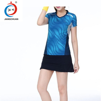2017-18 fashion style high quality women sports skirts suits active tennis jersey