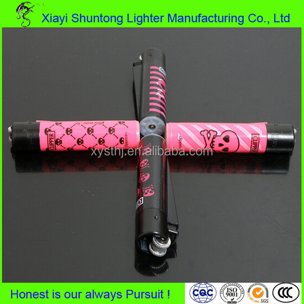 Factory disposable plastic metal clipper lighter