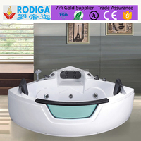 Autme Indoor Portable Corner sector Acrylic ABS massage Whirlpool Bathtub
