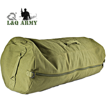 Canvas Duffle Bag - Side Zip