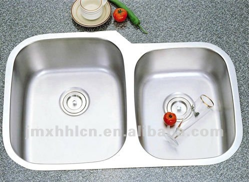 cUPC double bowl Stainless Steel kitchen sink fit for cabinet granite stone