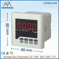 ME-3Q61 Panel Size 72*72mm Three Phase LED Display Digital Power Meter, Programmable Current and Voltage Transformation Ratio