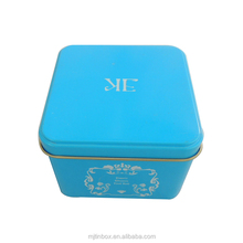 Reusable christmas promotion gift tin box for cookies, candy, cake