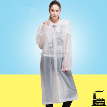 Cheap Material PEVA Raincoat Manufacturer fashion raincoat 2012