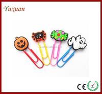 Holiday gift mini bookmark paper files clips,souvenir pvc bookmark paper clips