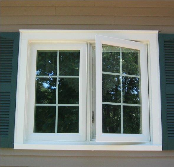 Double pane outside opening aluminum casement window for Buy casement windows