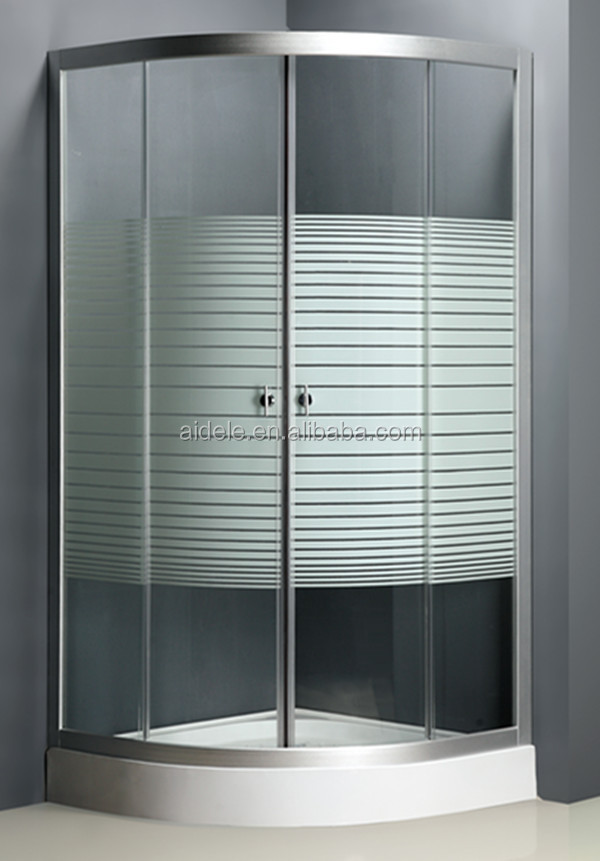 Free standing prefab glass corner shower enclosure