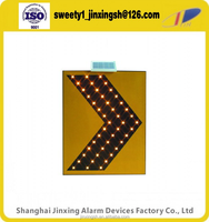 yellow Traffic led flashing signal ,arrow alarm light,LED larrow sign