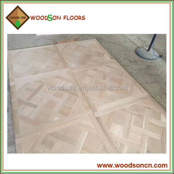 Customized 1000*1000mm Fully Solid Versailles Wood Parquet Flooring