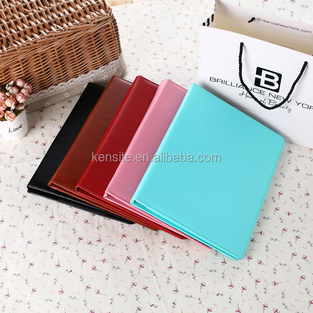 A4 hot selling fashion leather portfolio with calculator
