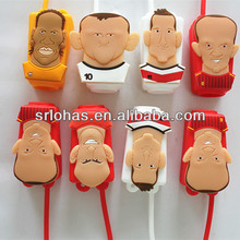 cheap hot sell silicone rubber 2014 Brazil world cup football/soccer star 30ml hand sanitizer gel holders