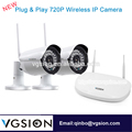 2CH Wireless Outdoor Surveillance IP Camera 720P Wireless DVR Camera Kit