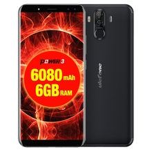 Dropshipping Ulefone Power 3 6GB RAM 6080mah Big Battery Face & Fingerprint Identification Android 8.1 smartphone