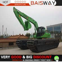 Deep water amphibious excavator sand dredger for wetland and swamp