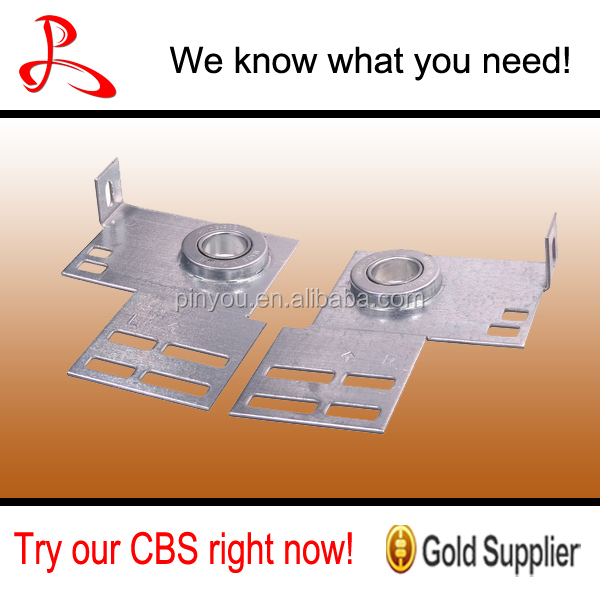 "End Bearing Plate 3 3/8"" CL 12 Ga (Light Duty) Bearing Plate for Garage Door"
