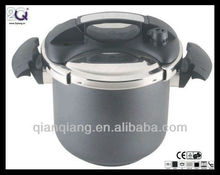 S/S double-ear handle black pressure cooker