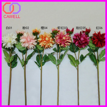 synthetic wholesale 2 heads silk fake dahlia