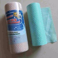 Washable disposable spunlace nonwoven cloth to clean the kitchen cloth roll