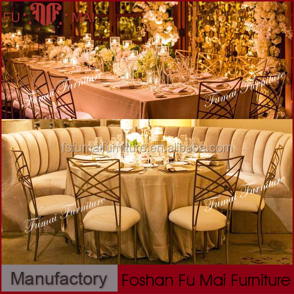 PU cushion X back design iron frame function banquet hall chairs