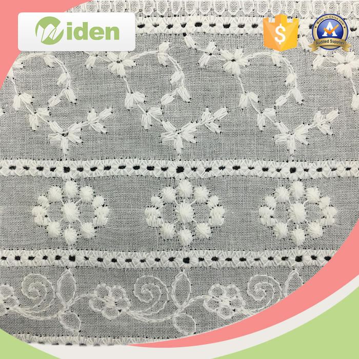 French Cotton Guipure Embroidered Lace Fabric