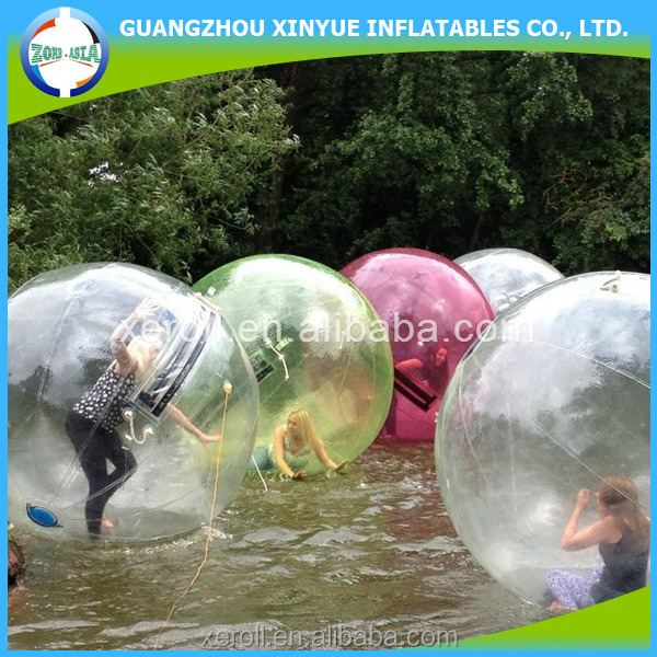 2014 nice design EU&US standard giant inflatable water bubble walking ball