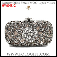 YYJDZJ113 Fashion Hollow Flowers Crystal Evening Bags Rhinestones Party Clutch Purses for Ladies Factory Wholesale