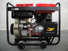 5KW KDE6500E moving generator set with wheels