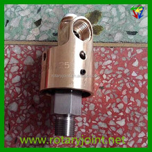 "OEM high precision 3/8"" BSP water rotary coupling joint, swivel coupling rotary joint"