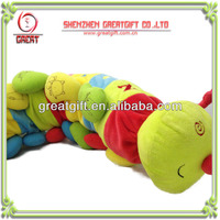 Customized caterpillar plush toy, children gift fancy plush toys for letters learning
