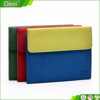 custom made 6 pp plastic inner pages recycled Simple stylish fancy accordion file folders with Suede fabric cover
