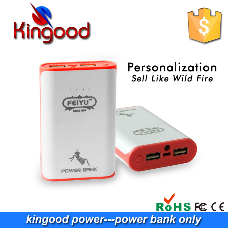 Wholesale fashion power bank 7800mah universal portable battery mobile phone charger