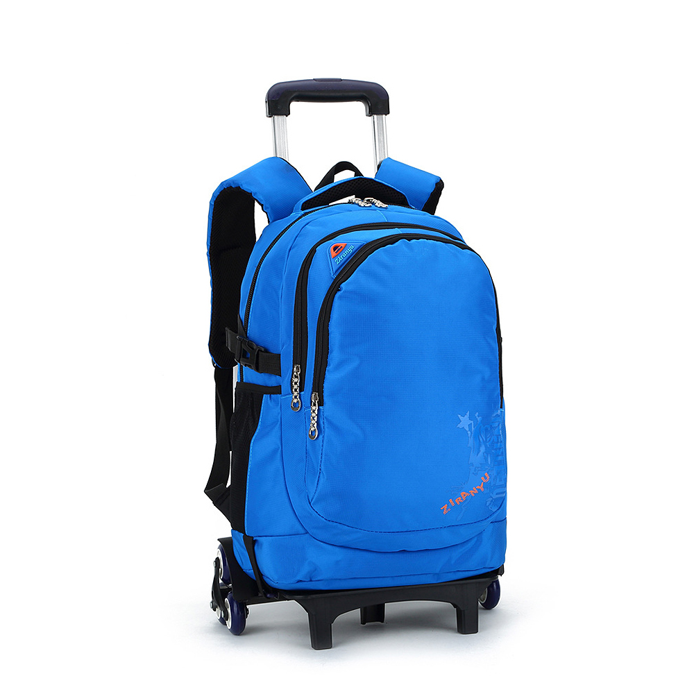 Waterproof Nylon Large Capacity pupil kids trolley school bag