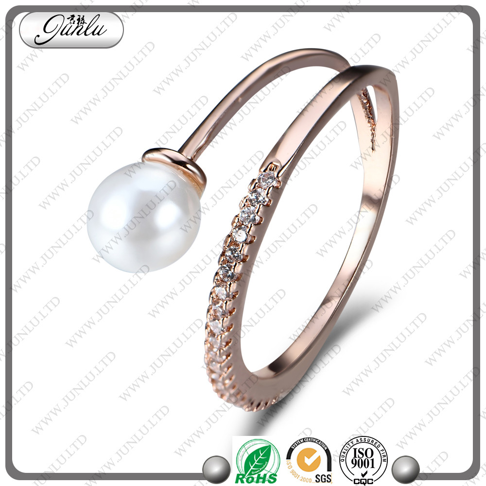 pearl ring designs for women or pearl ring mountings for yiwu wholesale market
