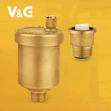Steam Brass Radiator Air Vent Safety Valve For Boiler