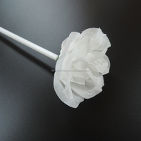 outdoor decorative single stem LED light rose flowers