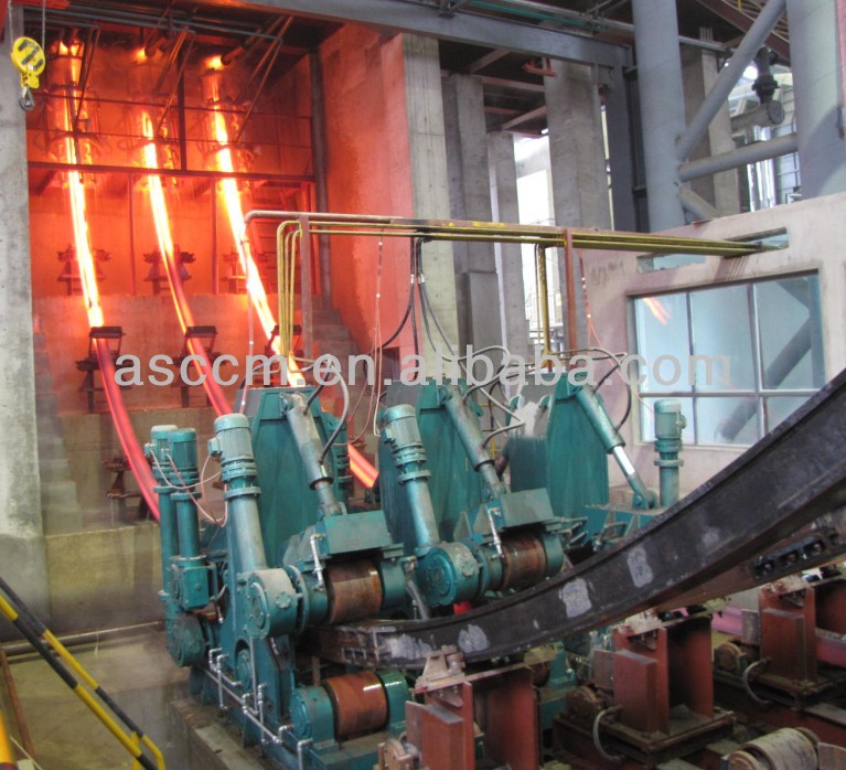 billet rod continuous casting and rolling line
